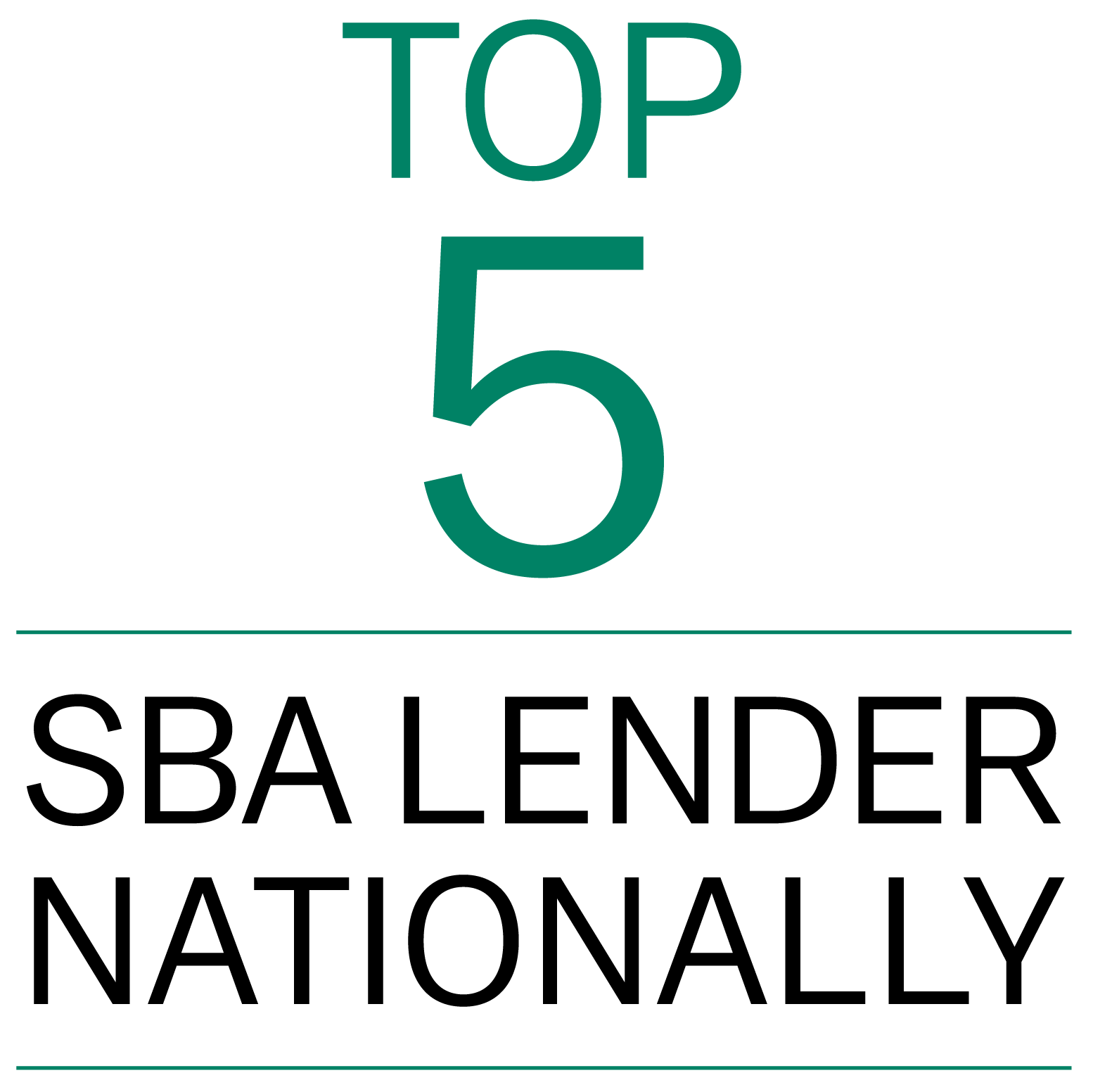 Top 5 SBA Lender Nationally